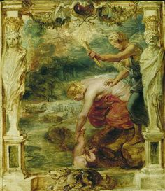 Greatest warrior with a grudge. Never a good thing! http://luccav.com/2014/02/21/greatest-warrior-with-a-grudge-never-a-good-thing/ Thetis dipping the infant Achilles into the river Styx Peter Paul Rubens Date between 1630 and 1635 Wikipedia