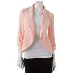 Kohl's: $36.99 Candie's Shawl-Collar Blazer http://www.kohls.com/kohlsStore/juniors/tops/PRD~1229500/Candies+ShawlCollar+Blazer.jsp#