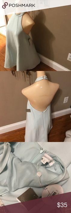 Xs Anthropologie mint halter dress Finders Keepers See pics lined dress nwt Finders Keepers Dresses Mini
