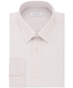 CALVIN KLEIN Calvin Klein Men'S Steel Classic/Regular Fit Non-Iron Performance Pink Multi Print Dress Shirt. #calvinklein #cloth # dress shirts