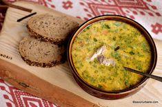 reteta ciorba de potroace dreasa cu smantana si galbenus Romanian Food, Guacamole, Hummus, Urban, Cooking, Ethnic Recipes, Drink, Travel, Romanian Recipes