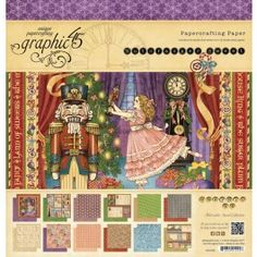 Graphic 45 - Nutcracker Sweet - 12x12 Pad  Enter a whimsical world of childlike delight with a gorgeous holiday collection by Graphic 45! Introducing The Nutcracker Sweet, a dazzling collection inspired by the classic ballet that is sure to warm your heart and enliven your imagination. You'll be whisked away on an enchanting journey of Christmas bliss, accompanied by all your favorite characters: Clara, the Sugar Plum Fairy, the Mouse King, and the Nutcracker Prince! Every dazzling page...