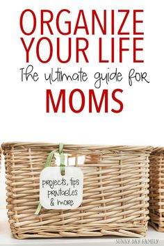 Organize your life as a busy mom with more than 35 real life organizing tips and ideas!