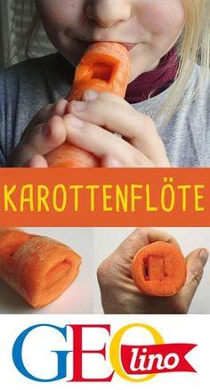 Wir zeigen euch, wie ihr aus einer Karotte eine Flöte bastelt! #musik #basteln #bastelnmitkindern #instrument