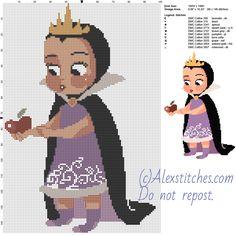 Snow White Villains Baby free cross stitch pattern 100x146 10 colors - free cross stitch patterns by Alex