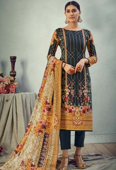#Cotton #fabric is the #best #fabric in any #weathers, cotton #salwar #kameez is the best choice for any #girls or #womens, #Nikvik is the #bestseller of cotton salwar #suits in #USA #AUSTRALIA #CANADA #UAE #UK Black Salwar Kameez, Cotton Salwar Kameez, Salwar Kameez Online, Salwar Suits, Celebrity Gowns, Pakistani Suits, Fashion Fabric, Fashion Pants, Printed Cotton