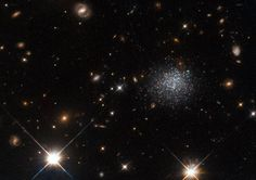 Hubble Spots Cosmic Crime in Dwarf Galaxy Credit: ESA/Hubble & NASA Thursday, July 14, 2016: This new image from NASA's Hubble Space Telescope shows an interesting dwarf galaxy known as LEDA 677373. A nearby giant spiral galaxy called Messier 83 is believed to be robbing gas from LEDA 677373 and preventing the birth of new stars.