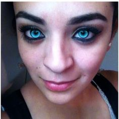 Playing with blue wolf contacts, Man i wish my eyes really looked like this!