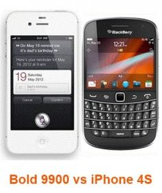 The Bold 9900 vs iPhone 4S are two amazing devices, the Blackberry phone comes with a touchscreen of 2.8 inches while the Apple's masterpiece has Retina Display which offers full HD view of contents at a resolution of 960 x 480 pixels. Find out more on these devices @ http://www.mobilesandtablets.co.uk/bold-9900-vs-iphone-4s-two-masterpieces-head-to-head/