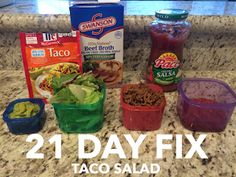 21 Day Fix - Taco Salad - quick easy to prep, delicious! #21dayfix #taconight #eatclean