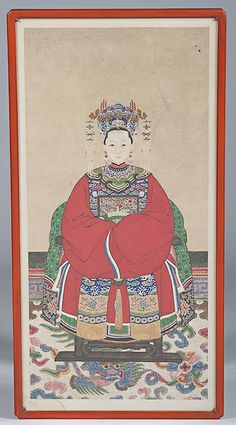 CHINESE ANSESTOR SCROLLS | Chinese Ancestral Portrait - Cowan's Auctions
