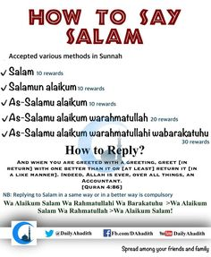 How to say Salam