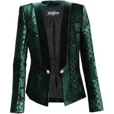BALMAIN Velvet Jacquard Jacket
