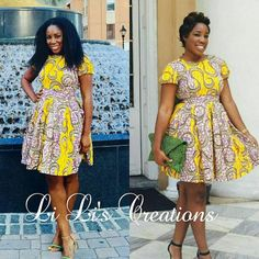 African Clothing: Li Li is a Vibrant Ankara by LiLiCreations