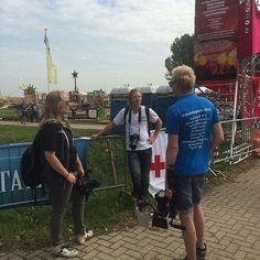 De camera crew druk in orde overleg  #rebonieuws #bodegraven #reeuwijk #vakantiespelen #vsb15 @vakantiespelen @vrieso