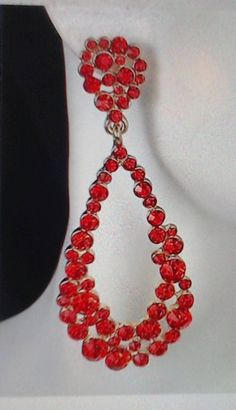 RED CRYSTAL HOOPS by beaqueenbee on Etsy