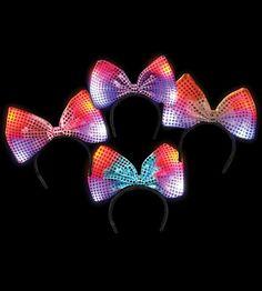 LED Flashing Bow Headband
