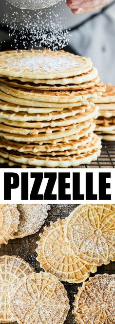 An easy Pizzelle recipe for the classic Italian cookie. Lightly sweetened and flavored with vanilla or anise, they are perfect for holiday gift-giving! via @culinaryhill #pizzelle #italiancookie #holidaygiftgiving