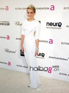 Dresses Uk Miley Cyrus Sexy White Long Sleeves Celebrity Dresses Jersey Mermaid Evening Dresses Backless Floor Length Prom Gowns Bo5105 Evening Dresses Uk From Romaloud, $92.49| Dhgate.Com