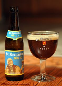 St. Bernardus Abt 12, 10% 8/10 very nice dark beer Watou Belgium perfect for in the winter time.