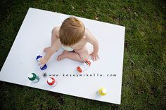 love this idea! Let them paint on their birthday!!! (could also cut out a big…