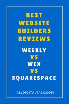 This review provides you all the details you need to select the best website builder. It's Wix vs Weebly vs Squarespace. You can decide which one best ....