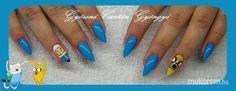 #nail #nails #nailart #beauty #nailsalon #naildesign #nailstyle #style #pinkcadillac #blue #adventuretime