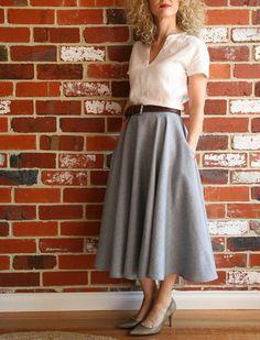 Sew Tessuti: Pattern Review - Style 3863 full circle skirt