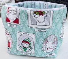 Project bag με Χριστουγεννιάτικα σχέδια