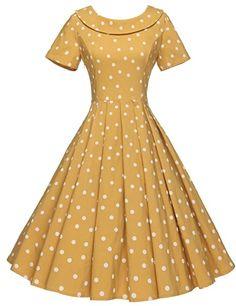 f7a3b01d304 GownTown Women s 1950s Polka Dot Vintage Dresses Audrey Hepburn Style Party  Dresses Party Dresses