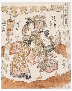 磯田湖龍齋: Sumö game played by Courtesans - ホノルル美術館