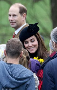 Catherine, Duchess of Cambridge made her way to the Sunday service at the Sandringham estate. She wore a floral-decor hat and a tweed dress coat as she was accompanied by Prince William for the traditional post-Christmas ceremony, December 27, 2015.