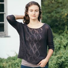 linen noir knitting pattern collection - Quince and Co