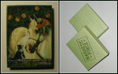 """""""Christmas Horse"""".  Home Décor magnet from my «Magnetic Force» collection. Made to order."""