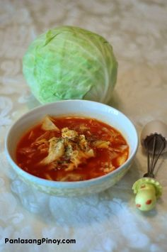 cabbage soup. i have cabbage.  i like soup.  really like it actually. i'm on it