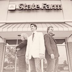 The Mod Squad! Yet another hip photo from Philip Sanders at Three Pennies. Seriously? What other State Farm office is this cool?
