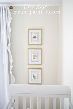 Get the names of the most beautiful cream paint colors & see how they look in various rooms!