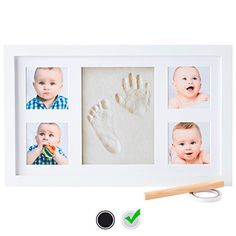 Baby Handprint Kit by Little Hippo |Deluxe Size + No Mold| Baby Picture Frame & Non Toxic Clay! Baby Footprint kit, Perfect for Baby Boy Gifts, and Baby Girls Gifts! (White, Deluxe) Check more at http://newbieto.com/baby/baby-handprint-kit-by-little-hippo-deluxe-size-no-mold-baby-picture-frame-non-toxic-clay-baby-footprint-kit-perfect-for-baby-boy-gifts-and-baby-girls-gifts-white-deluxe/