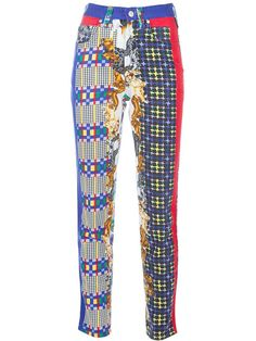 VERSACE Vintage Multicolored Jeans with Dog Print by GaletaVintage, €150.00