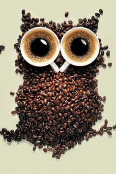 Coffee and coffee beans.  Coffee, coffee, good coffee!!!!