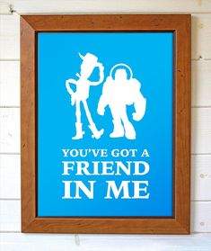 Disney Pixar Toy Story Woody & Buzz LightYear by BrightPaper