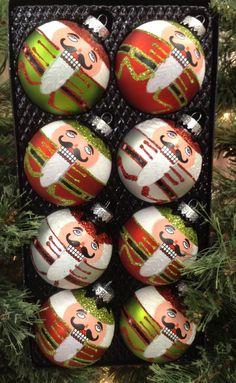 Nutcracker ornaments Nutcracker Crafts, Nutcracker Ornaments, Nutcracker Christmas, Felt Christmas, Felt Ornaments, Christmas Carol, Christmas Projects, All Things Christmas, White Christmas