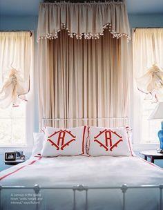 Gramercy: monograms, drapes, canopy