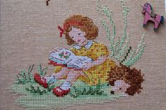 gone with the childhood: In the quiet forest . Mon imagier rétro H Veronique Enginger Cute Embroidery, Cross Stitch Embroidery, Embroidery Designs, Mini Cross Stitch, Cross Stitch Needles, Baby Cross Stitch Patterns, Cross Stitch Charts, Crochet Cross, Cross Stitching