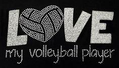 Rhinestone Volleyball Mom Tshirt Bling Volleyball Mom Shirt
