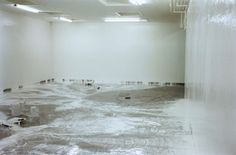 "Elmgreen & Dragset, ""12 Hours of White Paint/Powerless Structures, Fig. 15"" 1997  Courtesy Galerie Perrotin"