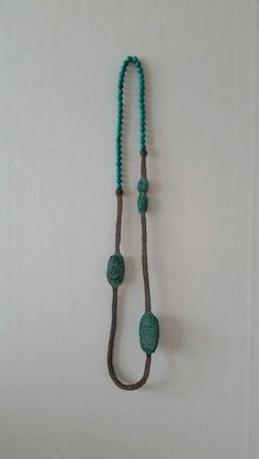 Crochet necklace by youmi kim