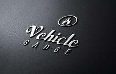 Photorealistic Logo Mockup Pack Metallic Badge