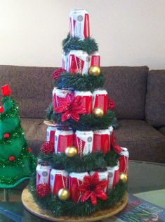 Beer can tree