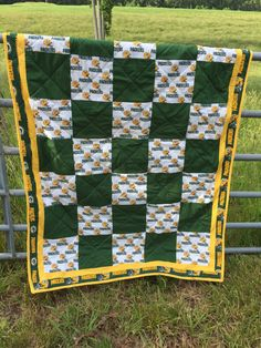 Green Bay Packers Quilt by NeNesQuilts on Etsy